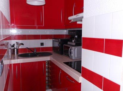 espace cuisine appartement Prapoutel