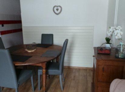 espace repas appartement Prapoutel